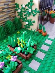 Lilium Eco House MOC. Growing veggies. (betweenbrickwalls) Tags: lego afol moc legomoc veggies vegetables growing garden green architecture flowers