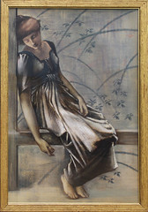 Edward Burne-Jones - Study for The Garden Court 6 (ahisgett) Tags: birmingham preraphaelite museum art