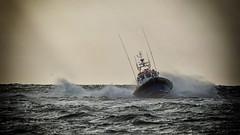 Pushing to the limit - (End of the series) (PAUL fotografie (Netherlands)) Tags: netherlands nederland nederlandinfotos nikon pdvandevelde padagudaloma paulvandevelde texel natuurfotografie nature naturephotographer eierlandseduinen decocksdorp northsea knrm sar lifeboat water sea ocean ship boat vessel wave sky