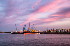Harbor in Hamburg 2018 (zilverbat.) Tags: duitsland zilverbat image de germany duits europe german harbor wallpaper waterfront world water pin tripadvisor travel visit ship canon haven sky clouds europa hamburg overslag hafen port portofhamburg kranen kraan industrie handel ngc