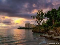 Twilight @ Tumon Bay, 10/6/18 (orgazmo) Tags: guam tumon tumonbay pentax k1 fa1530mmf28edsdmwr tree ocean outdoors coastlines twilight clouds sunset sky