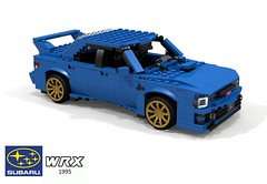 Subaru WRX Sedan - 1995 (lego911) Tags: subaru impreza wrx 1995 1990s rally 4wd 4x4 allwheeldrive winner sedan saloon gold wheels jdm japan japanese auto car moc model miniland lego lego911 ldd render cad povray lugnuts challenge 117 11th 11 anniversary birthday acultfollowing cult following wing turbo boxer afol foitsop