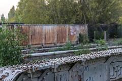 Victorian metal everywhere (d0mokun) Tags: blackcountry railway southstaffsline abandoned autumn bridge rivets sunset urbandecay urbanexploration urbanlandscape urbex westmidlands tipton england unitedkingdom gb