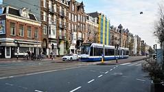3x3 (2) (Peter ( phonepics only) Eijkman) Tags: amsterdam city combino gvb omleiding detour tram transport trams tramtracks trolley rail rails strassenbahn streetcars nederland netherlands nederlandse noordholland holland
