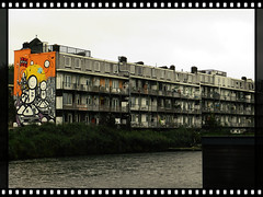 Mural in Amsterdam, this is ART (JoséDay) Tags: mural straatart amsterdam amsterdamoost zeeburgerdijk windows balcony doorswindowsgroup balconiesgroup groupaboutbalcony nopeoplegroups keepyoureyesopennopeople nopeoplegroup nopeople supremeimages theartistclub super bitchesbrew coolshotnopeople nikon coolpix p500