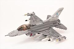 F-16CJ 'Wild Weasel' (Corvin Stichert) Tags: lego f16 fighting falcon viper wild weasel lockheed martin jet fighter plane aicraft