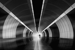 ... beneaththestreets... (*ines_maria) Tags: gh5 panasonic metro ubahn transportations transit tourism line front people downtown reflection direction corridor design culture capital urbanart city ceiling business austria architecture light love couple tube vienna u3
