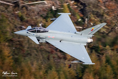 RAF Typhoon FGR.4 ZK376 low level at Thirlmere (NDSD) Tags: low level typhoon eurofighter fgr4 thirlmere cumbria flying jet raf lake district plane sky aircraft aviation