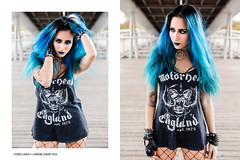 Phi Van (Laurène Zabary - Photographie) Tags: portrait portraits outdoor outdoors photoshoot photo photography alternativemodele attractive altmodel girl woman metal metalhead rocknroll punk paris parisienne bluehair colors blue hair longhair