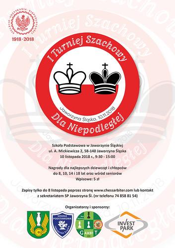 Plakat I Turnieju Szachowego Dla Niepodległej Jaworzyna Śląska