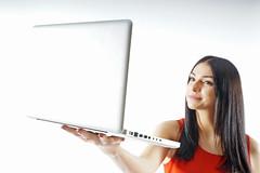 stock (cwirke) Tags: shutterstock stock pc laptop model studio ad promotion girl shoot white whitebackground light commercial