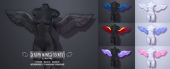 Seraph Wings (Bento) by Sweet Thing. (Sweet Thing.) Tags: sl secondlife sweetthing salem halloween witch angel demon feather wings bento