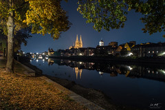 It's autumn (markus_langlotz) Tags: regensburg ratisbon skyline dom cathedral donau danube available light availablelight bluehour blue hour blau blauestunde