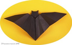 I'm Batman (mancinerie) Tags: origami paperfolding papiroflexia papierfalten bat origamibat francescomancini mancinerie