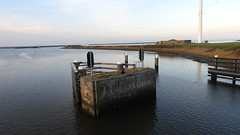 DSCN8786 (DutchRoadMovies) Tags: stevinsluizen afsluitdijk den oever a7 rijksweg ijsselmeer waddenzee bridge lake freeway motorway water sea locks