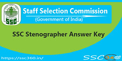 SSC Stenographer Answer Key Check SSC Steno Question Paper With Answers (ssc360) Tags: ssc stenographer answer key