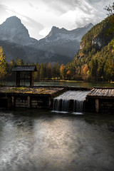Schiederweiher (Christoph H. Amateur Photography) Tags: creek lake mountains water longtimeexposure landscape alps mountainside autumn austria