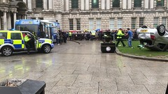 Emergency Services Road Traffic Collision Demonstration at Belfast City Hall, 16.10.2018 (John D McDonald) Tags: belfast cityhall belfastcityhall belfastcityhallgrounds donegallsquare donegallsquarenorth northernireland ni ulster geotagged iphone appleiphone iphone7plus appleiphone7plus reenactment reconstruction emergency emergencyreconstruction rta roadtrafficaccident roadtrafficcollision rtareconstruction rtcreconstruction roadtrafficaccidentreconstruction roadtrafficcollisionreconstruction emergencyservice emergencyservices emergencyservicereconstruction emergencyservicesreconstruction car renault clio renaultclio police psni bus coolfm