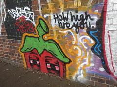 Banbury Street, Digbeth - graffiti - How high are you (ell brown) Tags: banburyst digbeth birmingham westmidlands england unitedkingdom greatbritain graffiti streetart howhighareyou