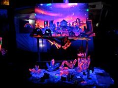 cityscape at night (citymaus) Tags: cityscape night raindance 2018 musicfestival music festival mendocino county norcal art uv light paint painting cutout artists artist
