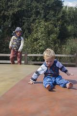 Sam and Paul (quinn.anya) Tags: sam paul toddler kindergartener jellystonepark jumpingpillow