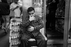 (BautistaNY) Tags: streetphotography nyc nycstreetphotography newyork newyorkcity newyorkstreetphotography blackandwhite blackwhite manhattan monochrome candid x100f fuji fujifilm timessquare