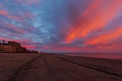 Portobello sunrise (hazelhouliston) Tags: sunrise sky beach sea pink nature sand