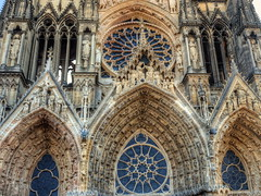 Reims Cathedral (Digidoc2) Tags: reimscathedral cathedral church historic building architecture iconicwindows stainedglass statues imposing old france reims