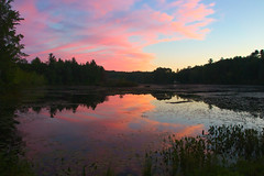 Canvas (jonaskey) Tags: sunset landscape clouds reflection color lake woodland wetlands