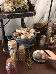 Got Garlic? It wards off evil spirits, you know! (JunqueDollBoutique) Tags: uedollboutique halloween playscale diorama witch apothecary garlic potions spices herbs