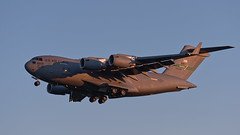USAF C-17 Globemaster III - 88200 (Seabird NZ) Tags: newzealand canterbury christchurch internationalairport usaf usairforce 88200 mcchord c17 globemaster cargo military nikond810a sigma120300mmf28 sunset dusk landing plane airplane aircraft boeing defense jetengines quadengines antarctica