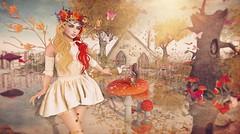 Windy Autumn Fae (Duchess Flux) Tags: seasonstory arcade halloweenspooktacular posefair liaisoncollaborative weloveroleplay fameshed ersch wasabi lode laq tentacio chrysanthemums myrrine sways keke runic jian yokai secondlife fairy fae fantasy sl