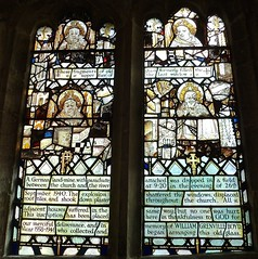 Swinbrook - St Mary's Church - Stained Glass Windows (Glass Angel) Tags: angels swinbrook stmaryschurch stainedglasswindows oxfordshire