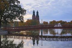 KlosterChurch05 (minipix.se) Tags: kloster church eskilstuna eskilstunaån bridge waterscape sunrise
