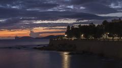 Sunset near the old town (AraAlessio) Tags: sunset sundown alghero sardegna sardinia italy italia seascape seaside seashore water sky tramonto sea nature landscape city old town downton