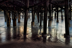 Neath the pier (Ed Rosack) Tags: usa sunrise calm pier dawn hires ©edrosack lowlight florida longexposure beach ocean seascape buildingandarchitecture landscape sky centralflorida waterscape water cocoa olympus dock shore cocoabeach us