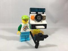 2018-294 - World Toy Camera Day (Steve Schar) Tags: 2018 wisconsin sunprairie iphone iphone6s project365 lego minifigure legotravelbuddy camera selfie polaroid toycamera worldtoycameraday toycameraday