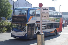 SY 15695 @ New Beetwell Street/coach station, Chesterfield (ianjpoole) Tags: stagecoach yorkshire scania n230ud alexander dennis enviro 400 yn60adz 15695 working route 55 clay cross bus station new beetwell street chesterfield