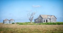 farm forgotten (Pejasar) Tags: watercolor art artistic house grainstorage clouds digitalcreations painterly paintcreations