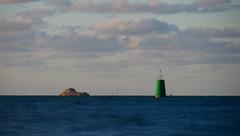 La grande verte (An Arzhig) Tags: longueexposure exposition longue exposure sea tribord ocean balise carantec bretagne france finistère panasonic lumix gx800