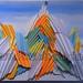 """Everest"" by Menka B, paper folding, $30.00"