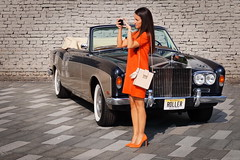 The Obsession For Perfection (Marija Mimica busy!!!) Tags: oldtimer girl old magicmoments orange city colors cars