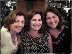 Amanda, Robin & Andi | Portland, Maine (steveartist) Tags: women friends family portraits party bricks restaurant iphonese snapseed stevefrenkel mothers daughters
