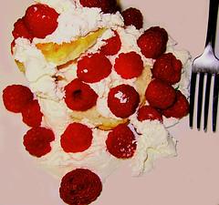 Raspberry_Pile (Guyser1) Tags: food raspberries raspberryshortcake berries whippedcream westyellowstone canonpowershots95 pointandshoot