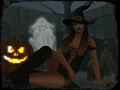 Witch (SeL♡Pics) Tags: secondlife photography witch ghost pumpkin halloween