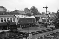 """British Rail Blue Class 50's, 50044 """"Exeter"""" & 50035 """"Ark Royal"""" (37190 """"Dalzell"""") Tags: brblue ee englishelectric type4 vulcanfoundry hoover class50 50035 arkroyal d435 50044 exeter d444 svr severnvalleyrailway 50sat50 gala kidderminster"""