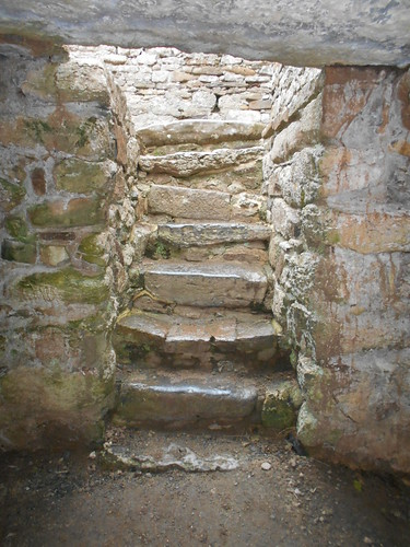 Hen Capel Lligwy, Anglesey. Crypt steps.