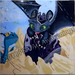 """Toothless Hatch Day"" by Dalia R, acrylic, $40.00"