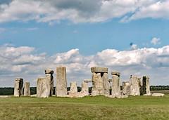 Stonehenge and Sky (john atte kiln) Tags: stonehenge wiltshire england amesbury britain uk unitedkingdom standingstones stones neolithic bronzeage monuments bluestones henge ruins grass ancient sky landscape