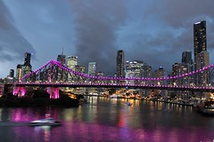 Story Bridge and an incoming storm, Brisbane (philip.mallis) Tags: brisbane river brisbaneriver storybridge bridge light night storm